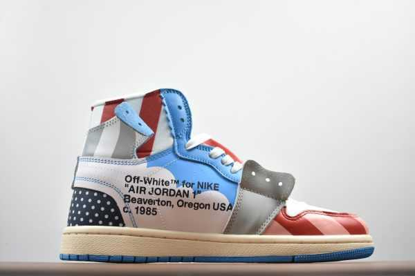 2018 Parra x Off-White x Air Jordan 1 High Custom AA3834-108