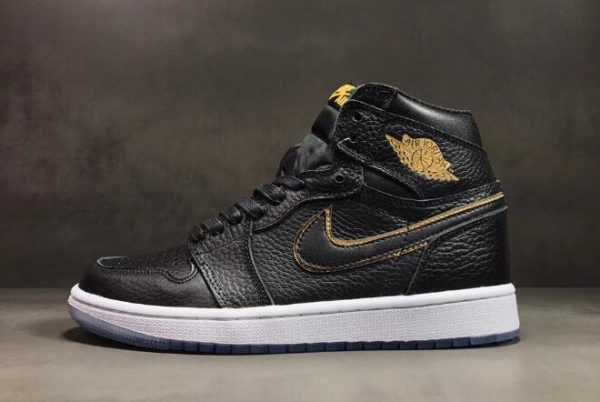 "All-Star Air Jordan 1 High OG ""Los Angeles"" Black/Metallic Gold-Summit White 555088-031"
