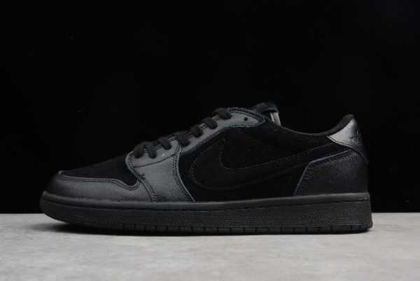 Air Jordan 1 Retro Low OG Premium ' riple Black' All Black 919701-010
