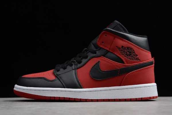 Men' s Air Jordan 1 Mid ' anned' Gym Red/Black-White 554724-610