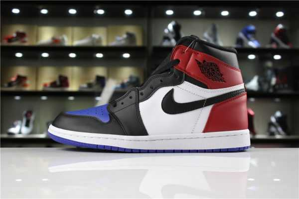 "Men' s Air Jordan 1 Retro High OG ""Top 3"" Black/Varsity Red-Varsity Royal For Sale"
