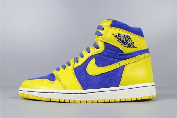 "Air Jordan 1 Retro High OG ""Laney"" Varisty Maize/Game Royal-White 555088-707"