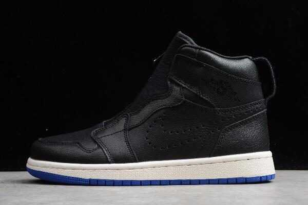 Air Jordan 1 Retro High Zip Black/Hyper Royal-Sail AR4833-001