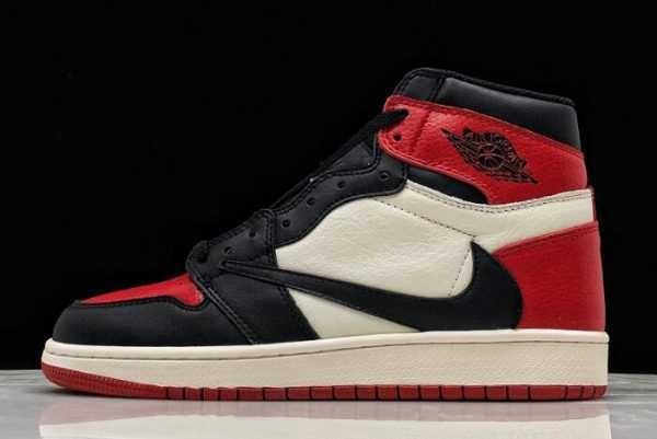 2019 Travis Scott x Air Jordan 1 High OG Bred Toe For Sale