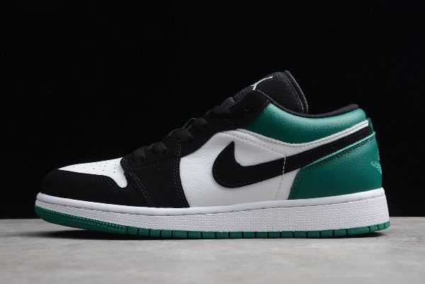 New Air Jordan 1 Low White Black Green For Sale