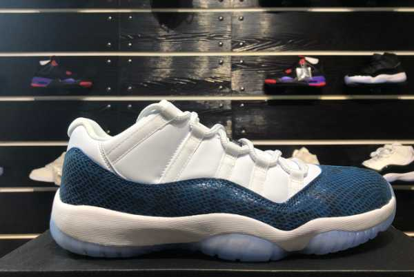 2020 Air Jordan 11 Low Navy Blue Snakeskin CD6846-102 For Sale