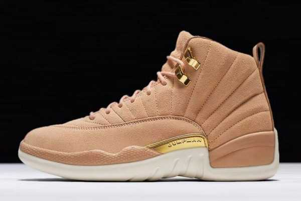 Girls Air Jordan 12 Vachetta Tan/Metallic Gold-Sail AO6068-203
