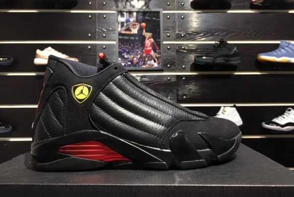 "2018 New Air Jordan 14 ""Last Shot"" Black/Varsity Red 487471-003"