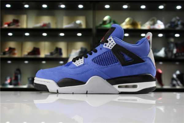 "Cheap Eminem x Air Jordan 4 ""Encore"" Blue/Black-Grey/Red 314254-704"