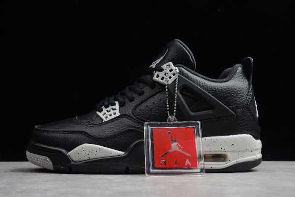 Mens Air Jordan 4 IV Retro LS ' reo' Black/Tech Grey 314254-003