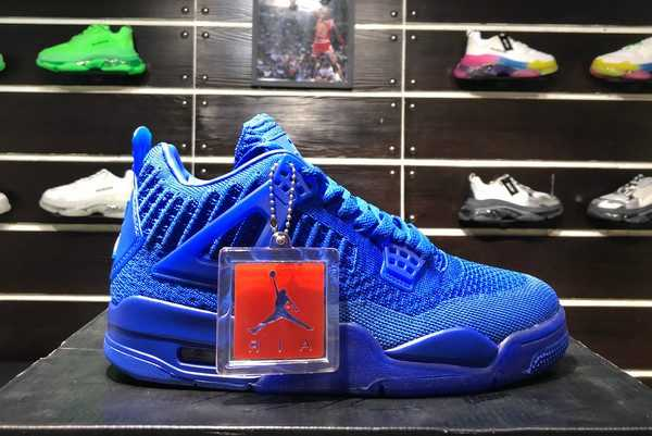 Latest Air Jordan 4 Retro Flyknit Hyper Royal AQ3559-500 For Sale