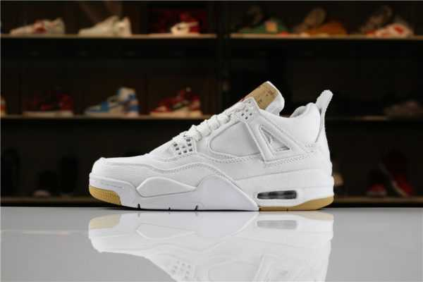 "2018 Levi' s x Air Jordan 4 ""White Denim"" AO2571-100 For Sale"
