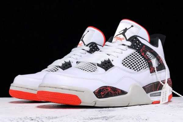 Mens Air Jordan 4 Retro Pale Citron Bright Crimson 308497-116